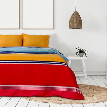 Комплект постельного белья Небесная радуга, микрофайбер Этель