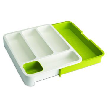 Органайзер для столовых приборов DrawerStore™ раздвижной белый/зеленый Joseph Joseph