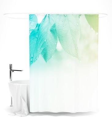 Шторка для ванной Нежность зеленого Сирень