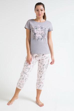 Комплект женский Весенние цветы (футболка и бриджи) Trikozza