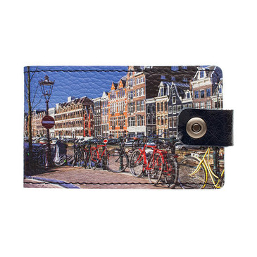 Визитница на кнопке Амстердам4 Eshemoda