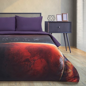 Комплект постельного белья Red planet, мако-сатин Этель