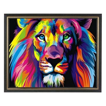 Картина со стразами. Радужный лев Color KIT