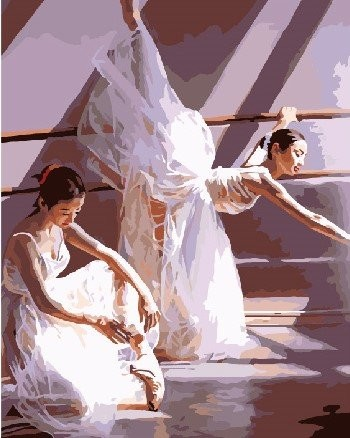 Картина по номерам на подрамнике. Жизнь балерин ВанГогВоМне