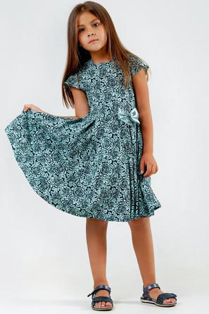 Платье Роза с бантиком 5+