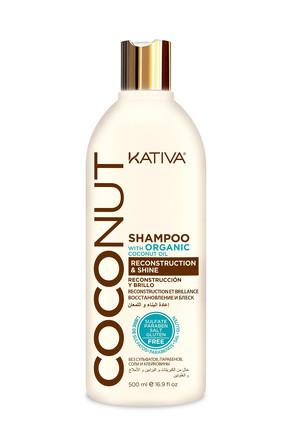Восстанавливающий шампунь с органическим кокосовым маслом для поврежденных волос Coconut 500мл  Kati