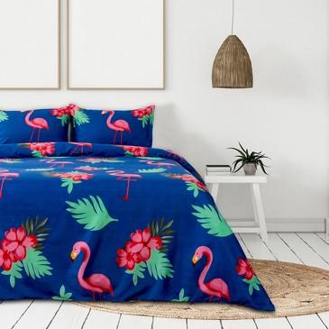 Комплект постельного белья Фламинго(вид 2), микрофайбер Этель