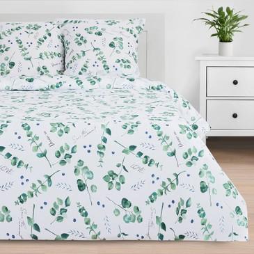 Комплект постельного белья Листья эвкалипта, поплин Этель