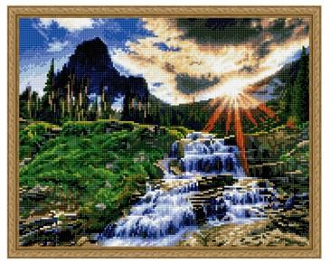 Алмазная мозаика. Горный ручей ВанГогВоМне