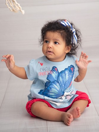 Комплект (футболка и шорты) Счастье прилетело Pelican