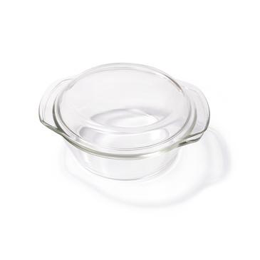 Кастрюля AURELI 20x18x9см / 1л со стеклянной крышкой Овальная  Fissman