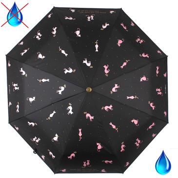 Зонт автомат с проявляющимся рисунком Flioraj