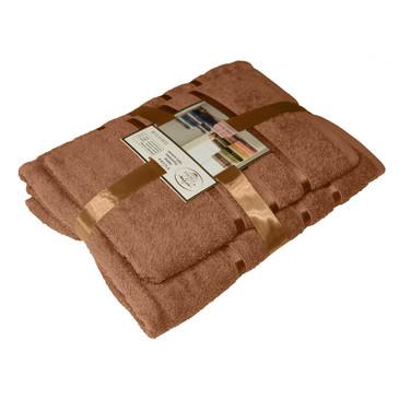Набор из 2-х махровых полотенец подарочных Aisha Home Textile