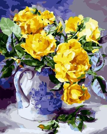 Раскраска по номерам. Желтые розы Color Kit