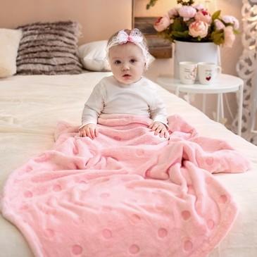 Плед -покрывало, micro velur Горох, 100х140 Baby Nice