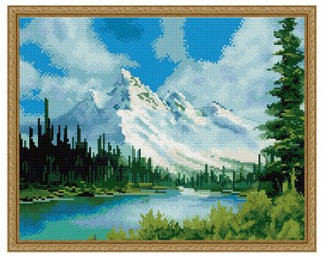 Алмазная мозаика. Горный пейзаж ВанГогВоМне