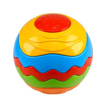 Развив. игрушка мяч-пазл Радуга  PlayGo