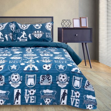 Комплект постельного белья Soccer, поплин Этель