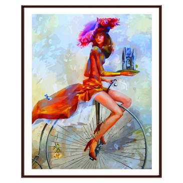 Картина по номерам. На велосипеде Color Kit