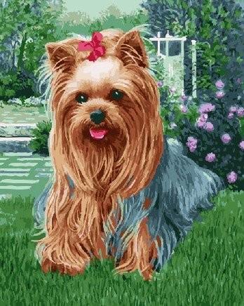 Картина по номерам на подрамнике. Милая собачка ВанГогВоМне