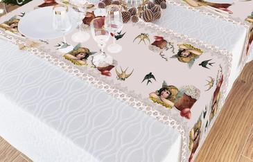 Дорожка на стол Сирень