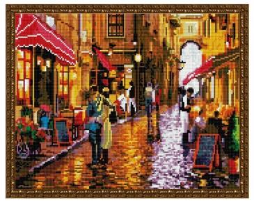 Алмазная мозаика. Кафе на улице ВанГогВоМне