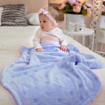 Плед -покрывало, micro velur Горох, 150х200 Baby Nice
