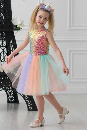 Платье Принцесса Единорог + ободок Красавушка