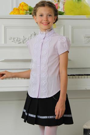 Блузка Короткий рукав кружево Красавушка
