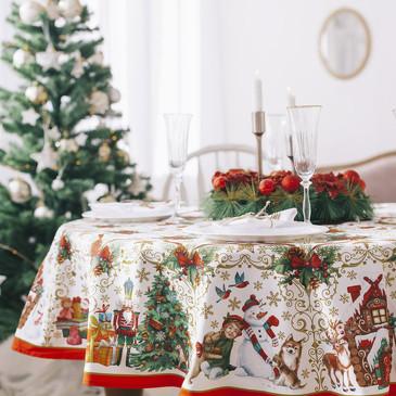 Скатерть Новогодние игрушки Этель