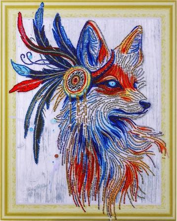 Алмазная картина с фигурными стразами. Звездная лиса Color Kit