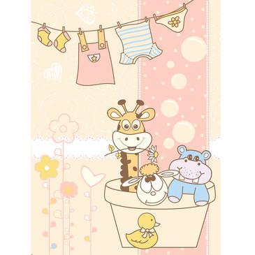 Плед, micro flannel Купание, 100х118 Baby Nice