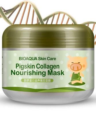 Питательная коллагеновая маска Pigskin Collagen BioAqua