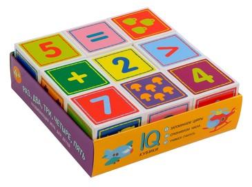 Умные кубики в поддончике. Раз, два, три, четыре, пять (9 шт.) Айрис-пресс