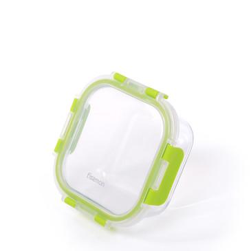 Контейнер с пластиковой крышкой 13х13х5см / 470мл (стекло) Fissman