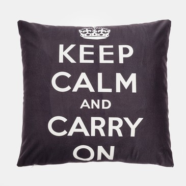 Чехол на подушку Keep calm цв.черный Этель