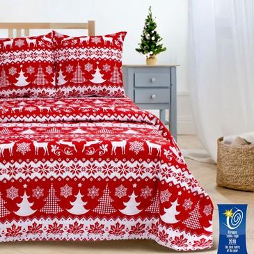 Комплект постельного белья Зимний узор, поплин Этель