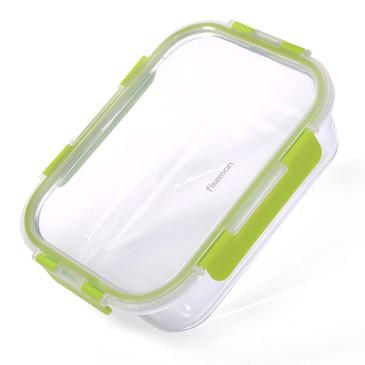 Контейнер с пластиковой крышкой 22х16х7см / 1440мл (стекло) Fissman