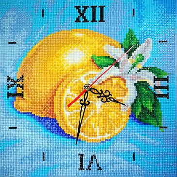 Алмазная мозаика-часы. Лимонная фантазия Color Kit