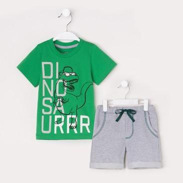 Комплект (футболка и шорты) Динозавр Kaftan