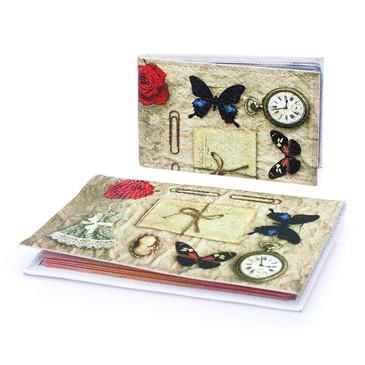 Комплект Платьице с бабочкой (обложка на паспорт и визитница) Eshemoda