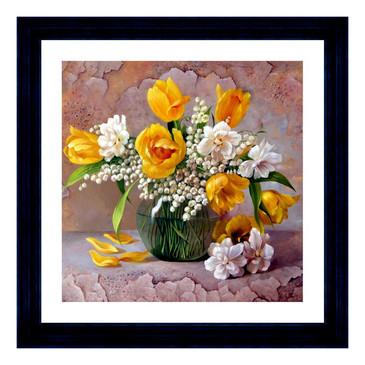 Мозаичная картина. Желтые тюльпаны Color Kit