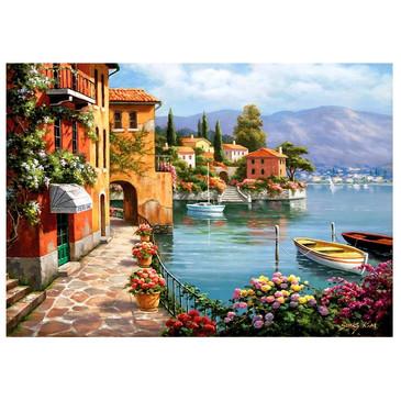 Картина по номерам на подрамнике. Цветы у моря  Paintboy