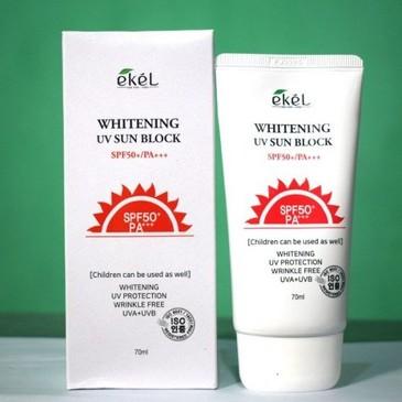 Солнцезащитный крем для светлой кожи SPF 50+/PA+++ Ekel
