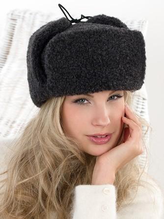 Шапка-ушанка Siberian wool Alwero