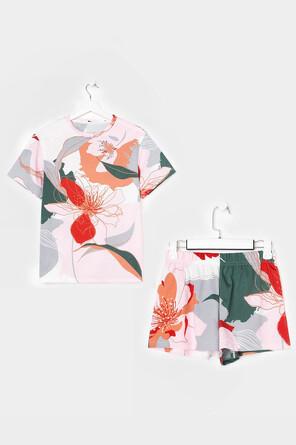 Пижама (футболка и шорты) Цветы Kaftan