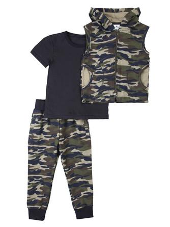 Комплект( жилет, футболка и штанишки) Грачонок