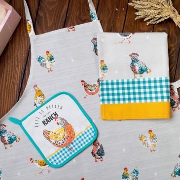 Набор подарочный Chicken Ranch (3 пр.) Этель
