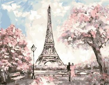 Картина по номерам на подрамнике. Весна в Париже ВанГогВоМне