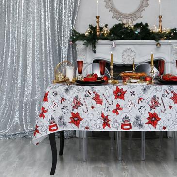 Скатерть Новогоднее настроение Доляна